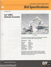 Equipment Brochure - Caterpillar - 320B L - Hydraulic Excavator - 1997 (EB812)