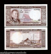 LAO LAOS 100 KIP P16 1974 REPLACEMENT S9 OX KING PAGODA UNC CURRENCY MONEY 1NOTE