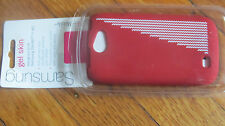 NEW T Mobile Samsung Gel Skin RED WITH WHITE Galaxy Exhibit 4G & Exhibit II 4G