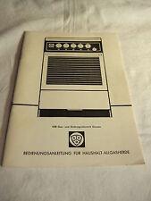 alte DDR Werbung Reklame Bedienungsanleitung Haushalt - Allgasgeräte HG 3-4 1981