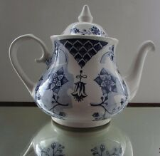 ROMANCE TEAPOT - ENGLAND IRONSTONE TABLEWARE LIMITED, BLUE & WHITE PATTERN  VGC