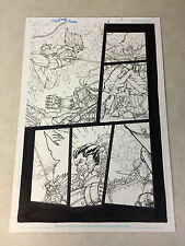 THUNDERCATS #5 PG #11 original art LION-O LEAPS INTO BATTLE, SNARF, 2004!!