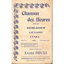 CHANSON DES HEURES chanson paroles PRIVAS musique PRIVAS piano chant partition