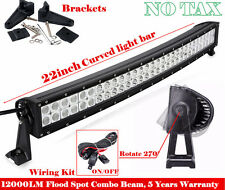 120W 22 inch LED Light Bar Work Curved Off Road Truck Boat Jeep Ford SUV 20/24