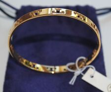NWT Authentic TORY BURCH Pierced T Logo Bangle in Yellow Gold $95
