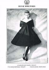 PUBLICITE ADVERTISING 074  1989  HANAE MORI  haute couture ANDREW MACPHERSON