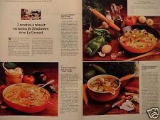 PUBLICITÉ 1981 LE CREUSET PLAT OVALE MAMA ROUGE CASSEROLE RUSTIQUE - ADVERTISING