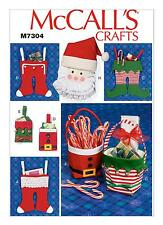 McCalls SEWING PATTERN M7304 Christmas Stockings,Gift Pouches,Baskets,Decoration