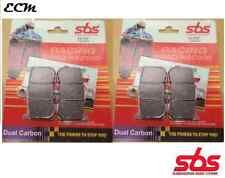 Triumph 675 Daytona 2006 Pair of Front Brake Pads SBS Dual Carbon 782DC