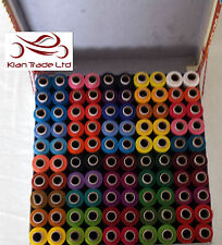 SEWING POLYESTER ALL PURPOSE COLOR THREADS Spool Box With Full of Sewing Reel