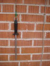 """Vintage 10"""" Steel R.H. FORSCHNER Knife Sharpening Steel Stick Sharpener ENGLAND"""