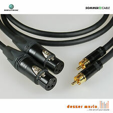 2x 1m Adapterkabel GALILEO NEUTRIK Gold / XLR female Cinch / Sommer Cable...TOP