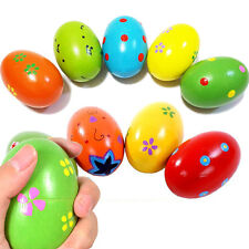 GT Baby Kid Percussion Toy Wooden Egg Rattle Maracas Instrument Music Shaker