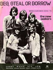 THE NEW SEEKERS - BEG STEAL OR BORROW - VINTAGE SHEET MUSIC AUSTRALIA