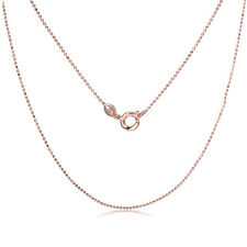 Rose Gold Plated Beads Chain Necklace For pendants Long Slim 18 inch