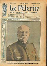 Portrait General Buiss Chief of Staff US Army in France  WWI 1918 ILLUSTRATION