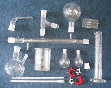 Set Laborglas - Laborbedarf - Rundkolben - Messzylinder - Destille - 20 Teile