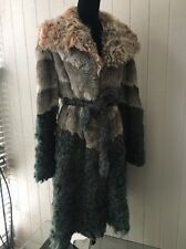 $4295.00 NWOT AUTH DOLCE REBECCA TIBETAN LAMB/ORYLAG FUR COAT SIZE L/XL ITALY
