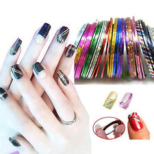 30PCS Mixed Colors Rolls Striping Tape Line Nail Art Tips Sequin Sticker