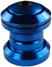 "Aluminum alloy BMX or MTB bicycle headset 1 1/8"" threadless - BLUE ANODIZED"