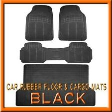 3PC Santa Fe Premium Black Rubber Floor Mats & 1PC Cargo Trunk Liner mat
