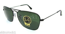 Authentic RAY-BAN Caravan Black Sunglass RB 3136 - W3338  *NEW*  55mm