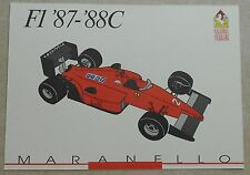 FERRARI Galleria 1993 f1 1987-88c Scheda Card brochure prospetto book libro Press
