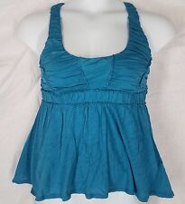 Ric Rac turquoise top sleeveless size S textured shirt womens anthropologie