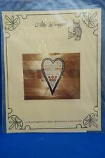 Attic Designs HEART SHAPED SAMPLER Cross Stitch Chart Flowers Antique Style 1984