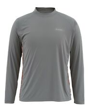 Simms SOLARFLEX Long Sleeve Crewneck ~ NEW Tri Geo Charcoal ~ Large ~ CLOSEOUT