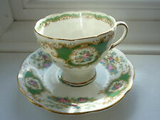 Foley China (green) BROADWAY Cup & Saucer
