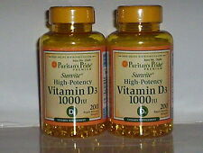 HIGH POTENCY VITAMIN D3 D 1000 IU BONE IMMUNE HEALTH SUPPLEMENT 400 SOFTGELS
