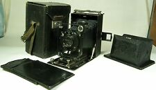 FOTOKOR soviet 9x12 folding plate camera with Ortagoz 4,5/135 lens+Box+Uraskop