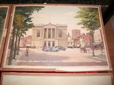 ST ALBANS ORIGINAL1944 POSTCARD PAINTINGS BY REGINALD RILEY FOR VALENTINE & CO