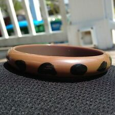 Vintage Army Green Bakelite Bangles Bracelets Painted Dots OTHERS LISTED