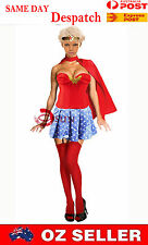 Sexy Super Hero Wonder Woman Costume Cosplay Fancy Dress Up Halloween COS47