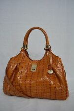 NWT! Brahmin Elisa Satchel/Shoulder Bag in Whiskey La Scala. Brown/Tan Color