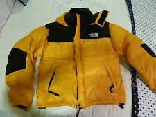 Vintage The North Face Down Puffy Coat Jacket Men's Medium Yellow