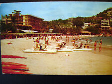 Acapulco La Playa de Caleta Morning Beach Postcard 1950s
