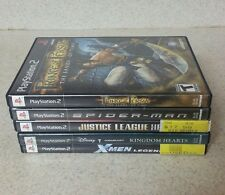 PLAYSTAION 2 LOT 5 GAMES JUSTICE LEAGUE SPIDERMAN PRINCE OF PERCIA X-MEN KINGDOM