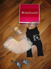 """American Girl 18"""" doll Isabelle's Performance Set Outfit Tutu Tiara Ballet new"""