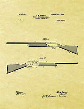 Display Art Print US PATENT for BROWNING AUTO 5 REMINGTON MODEL 11 Gun A5 A-5