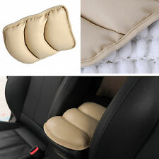 Car SUV Interior Center Armrest Console Box Soft Pad Cover Cushion PU Mat Beige