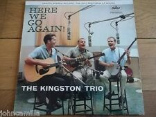 "THE KINGSTON TRIO - HERE WE GO AGAIN! 12"" LP / RECORD - CAPITOL RECORDS - ST1258"