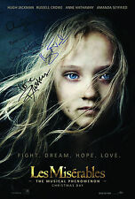 LES MISERABLES 4 CAST SIGNED AUTOGRAPH MOVIE POSTER A2 594 x 420mm (Very Rare)