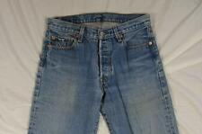 Levi 501 Button Fly Straight Leg Faded Denim Jeans Tag 31x38 Measure 31x35