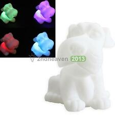 7 Color Changing LED Dog Lamp Bulb Nightlight Home Wedding Party Christmas Decor