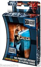 STAR WARS 3D LENTICULAR POKER PLAYING CARDS! THE PHANTOM MENACE LIMITED ED..