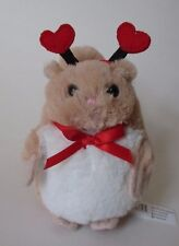 x plush tan SQUIRREL heart love mini Valentine's Day ganz