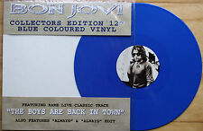 "EX/EX! BON JOVI ALWAYS 12"" BLUE VINYL COLLECTOR'S LIMITED EDITION PICTURE DISC"